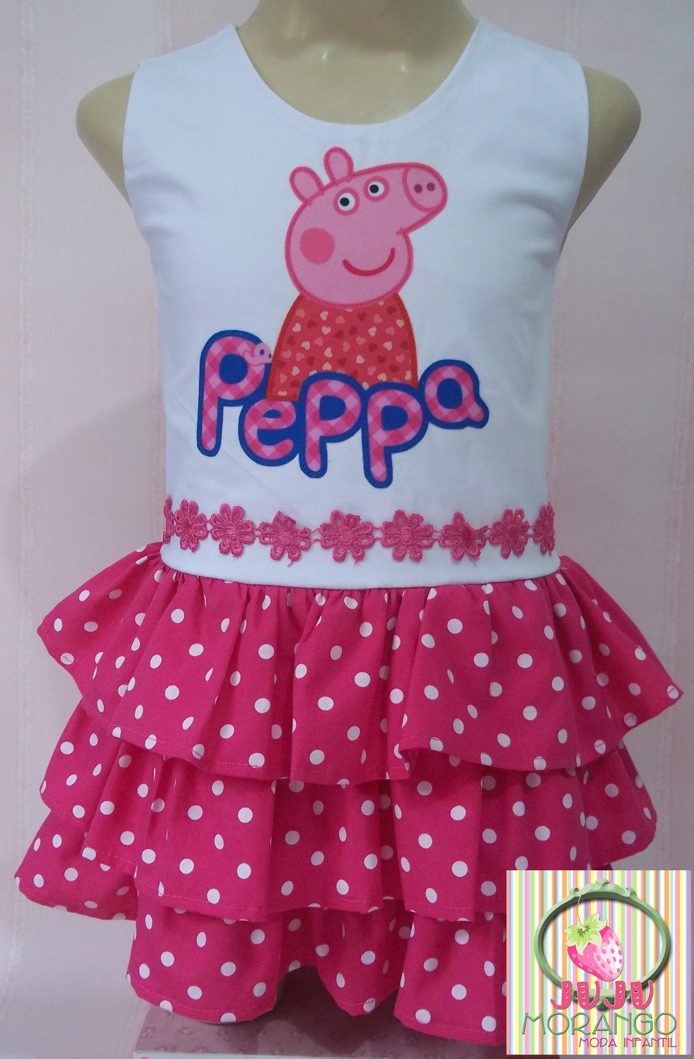 dd3716daa Vestido Peppa Pig no Elo7   Juju Morango Moda Infantil (546F5C)