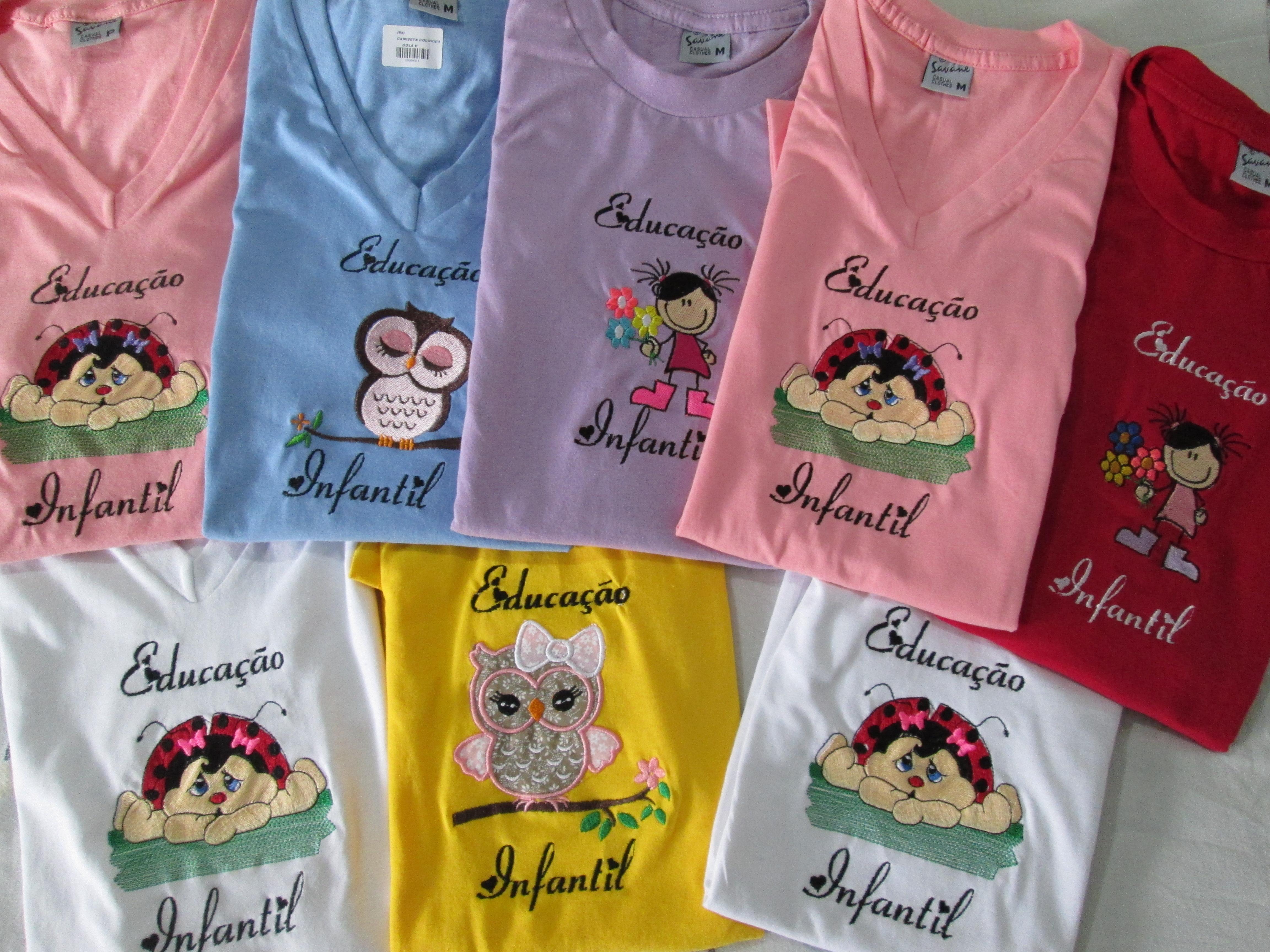 Super Camisetas Personalizadas no Elo7 | Art Bordado & Cia (4EB6EA) KD02