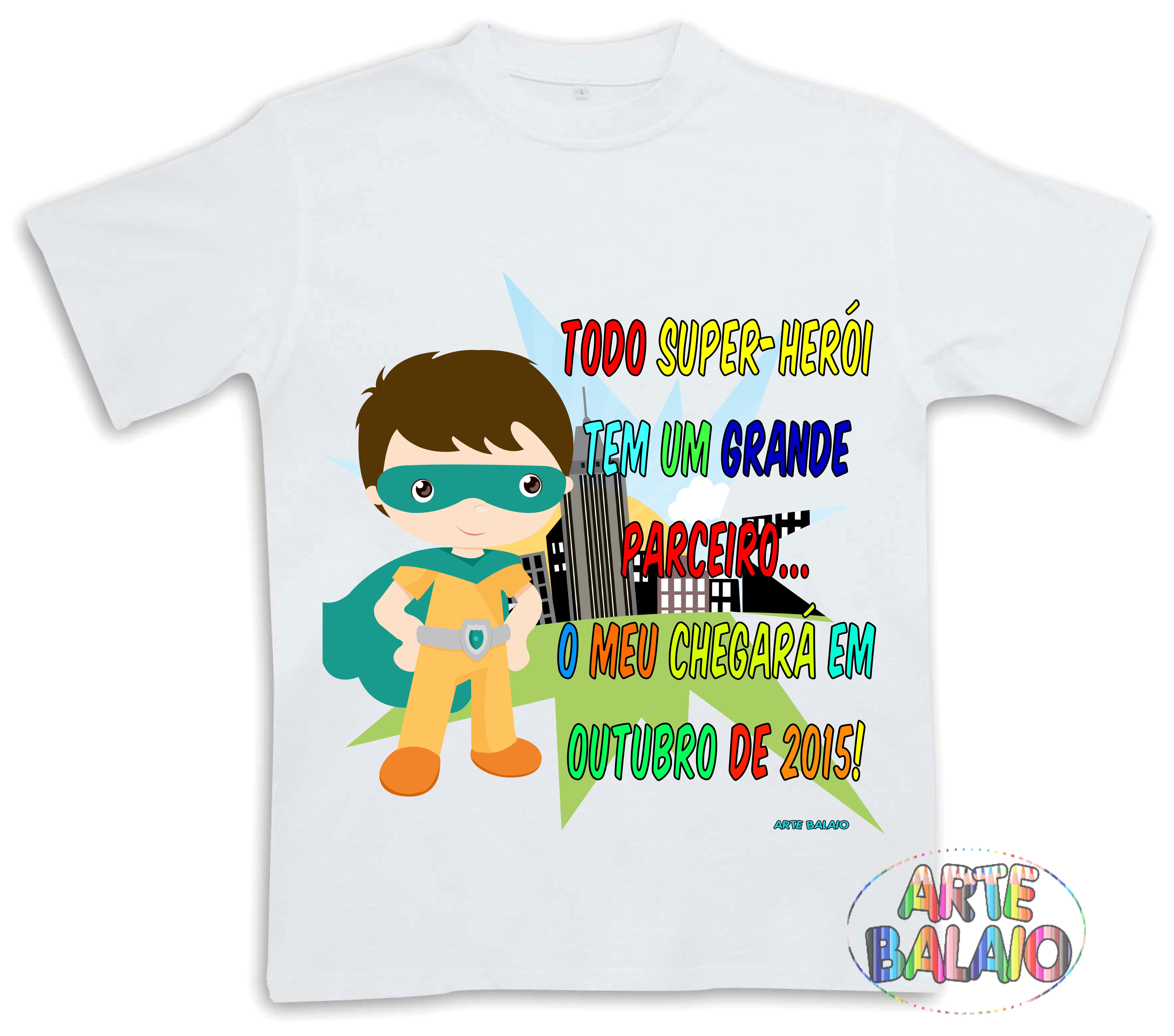 Camiseta Irmao Mais Velho Super Heroi Elo7