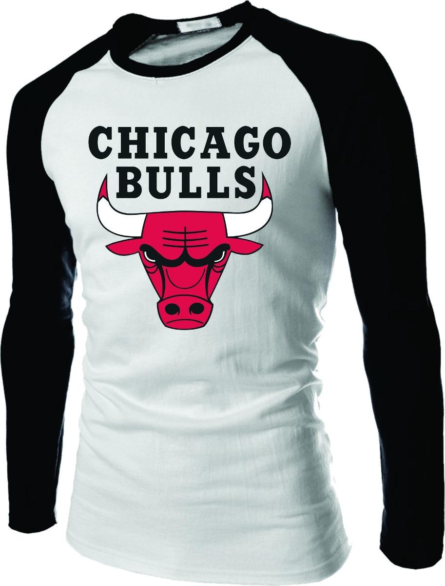 Manga Longa Chicago Bulls  8c864f3c364a0