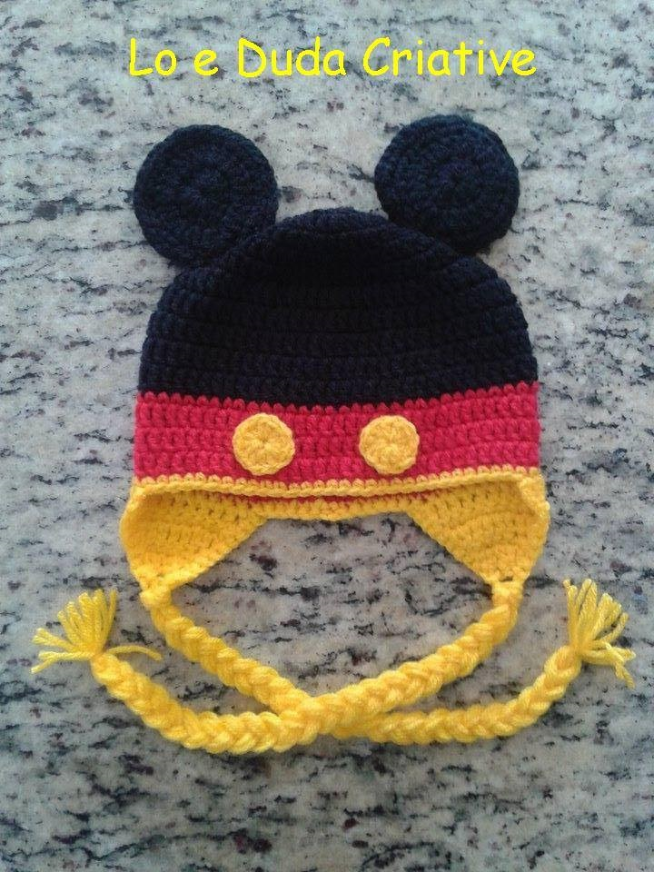Touca Mickey no Elo7  d33bbce8539