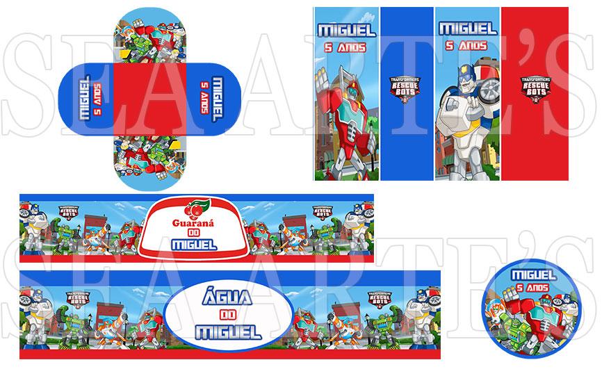 Arte Kit Digital  Rescue Bots  Sea Artes  Elo7