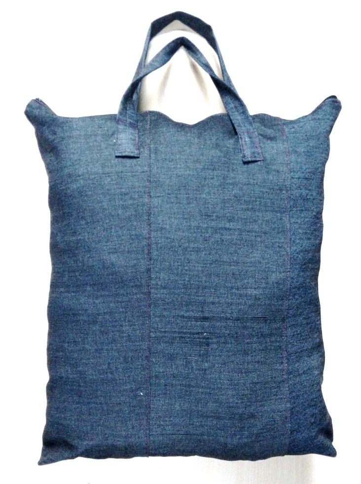 91319979a6193 Sacolão de Retalho Jeans 105 litros (VG) no Elo7