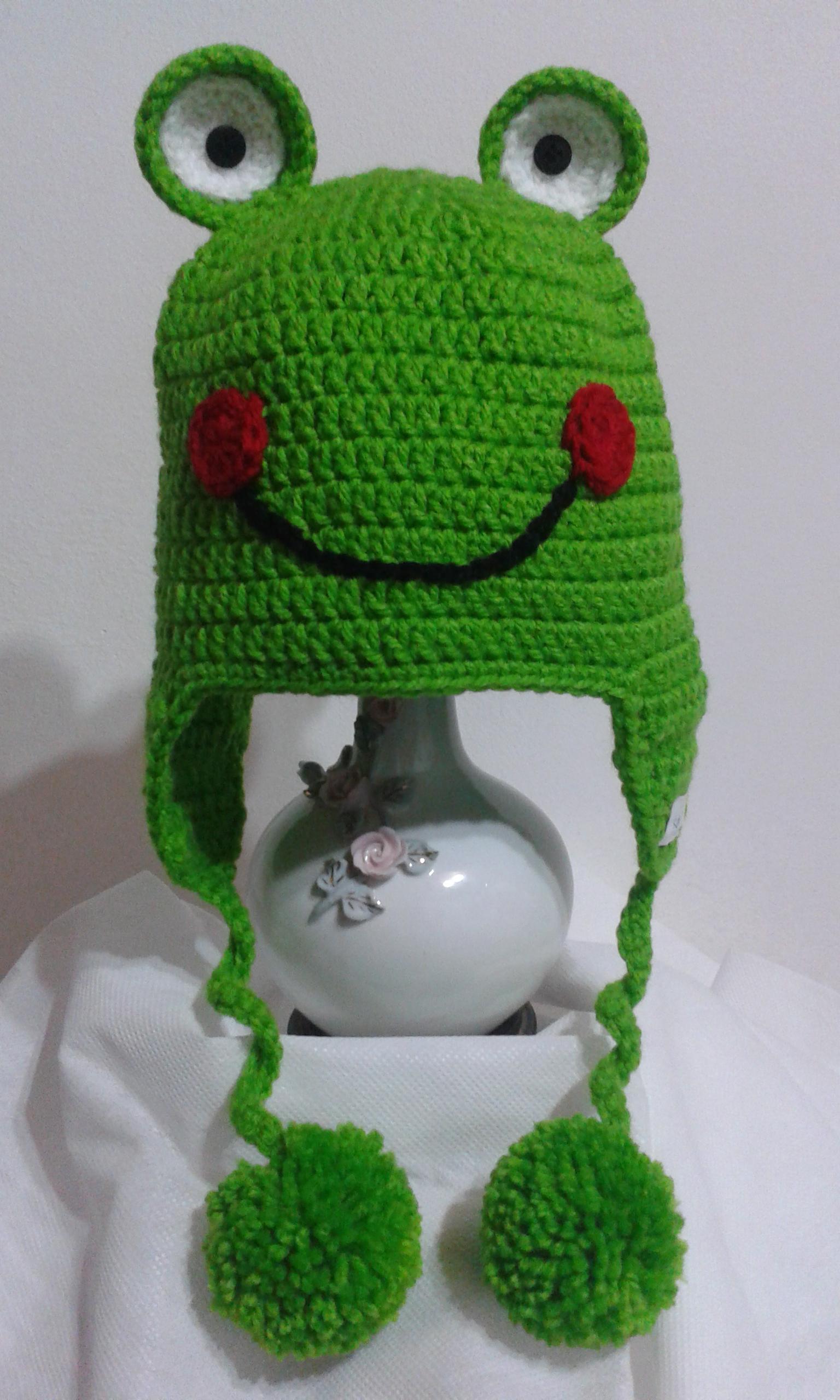 ccd2a4b3e656f Touca de Croche Infantil Sapinho no Elo7