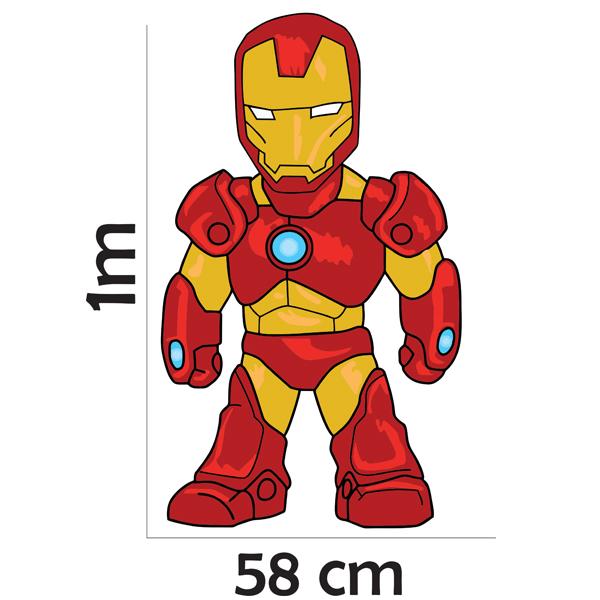 Adesivo Parede Mini Homem De Ferro