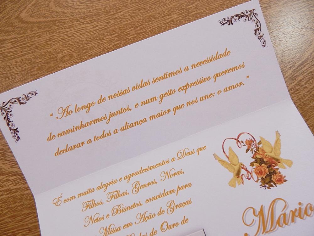 Convite Aspen Bodas De Ouro Branco No Elo7 Papelac Convites Loja