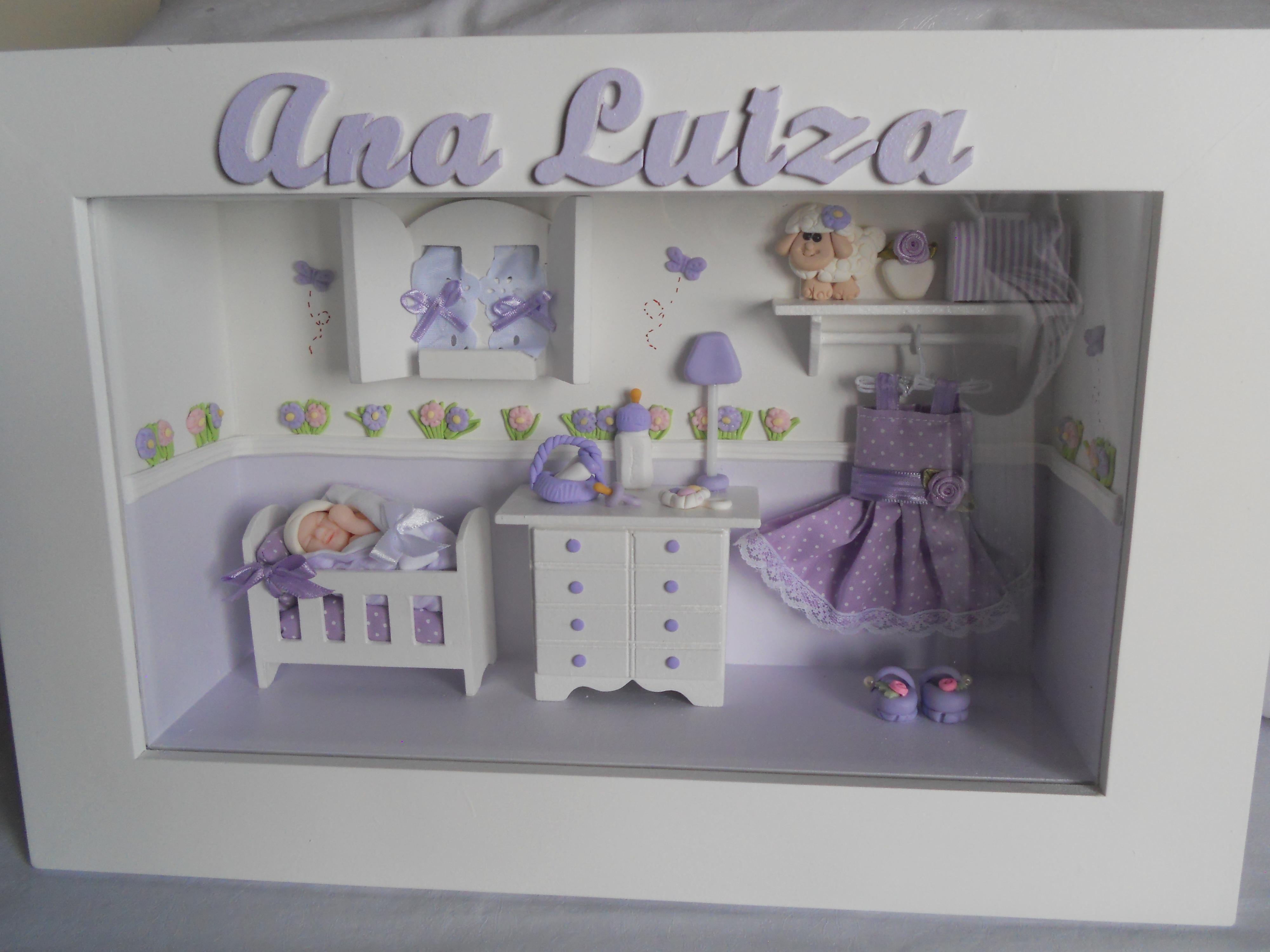Quadro Miniaturas Quarto de Bebê Mamãe Joaninha Elo7 ~ Ver Quadros Para Quarto De Bebe