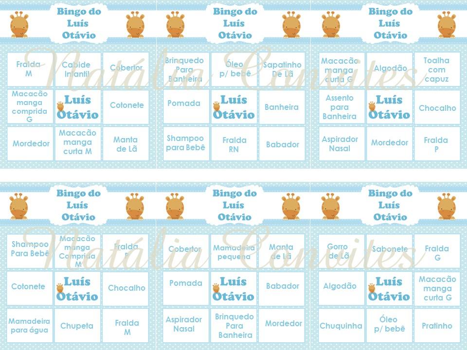 Excepcional Bingo de Animais | Elo7 SS95