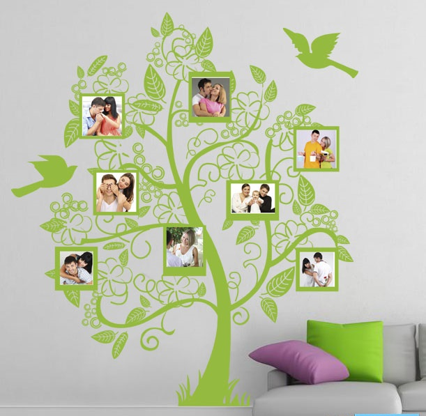 Artesanato Reciclagem Decoração ~ Adesivo DecorativoÁrvore familia 3 GAUDESIVOS Elo7