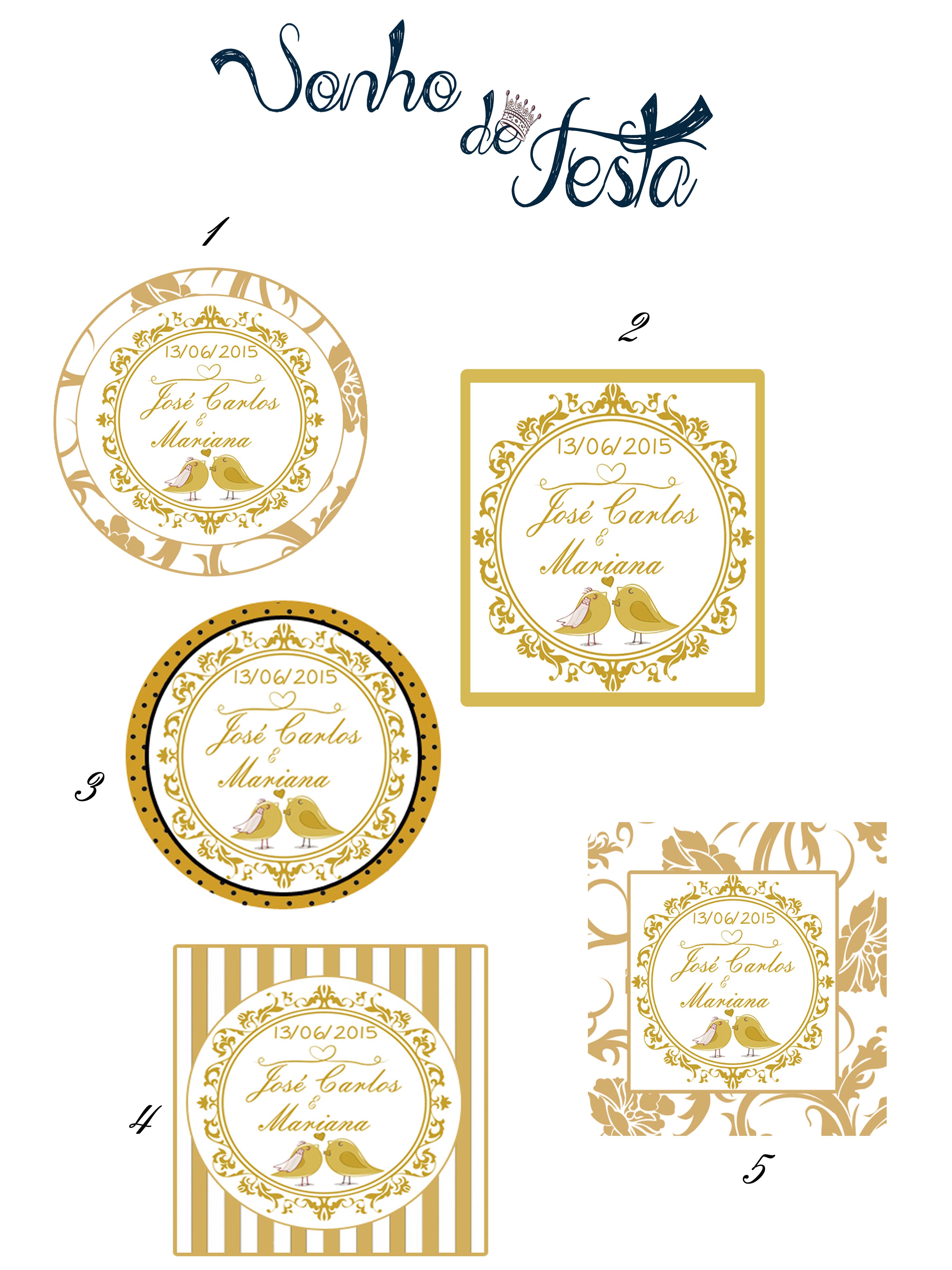 Artesanato Recife Antigo ~ Adesivos para lembrancinha casamento Sonho de Festa Bhz Elo7