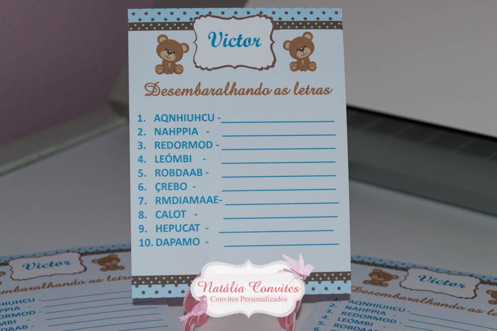 Populares Kit brincadeiras p/ chá de bebê + Lápis no Elo7 | Natália Convites  GT92