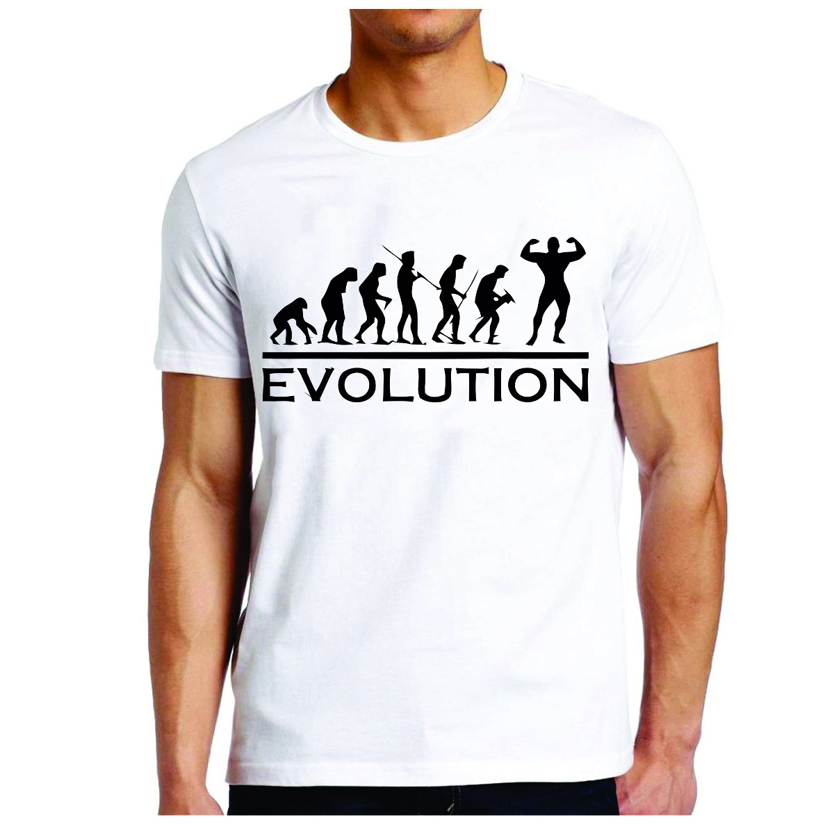 Camiseta Evolution Musculacao Academia  3ab9847e5b333