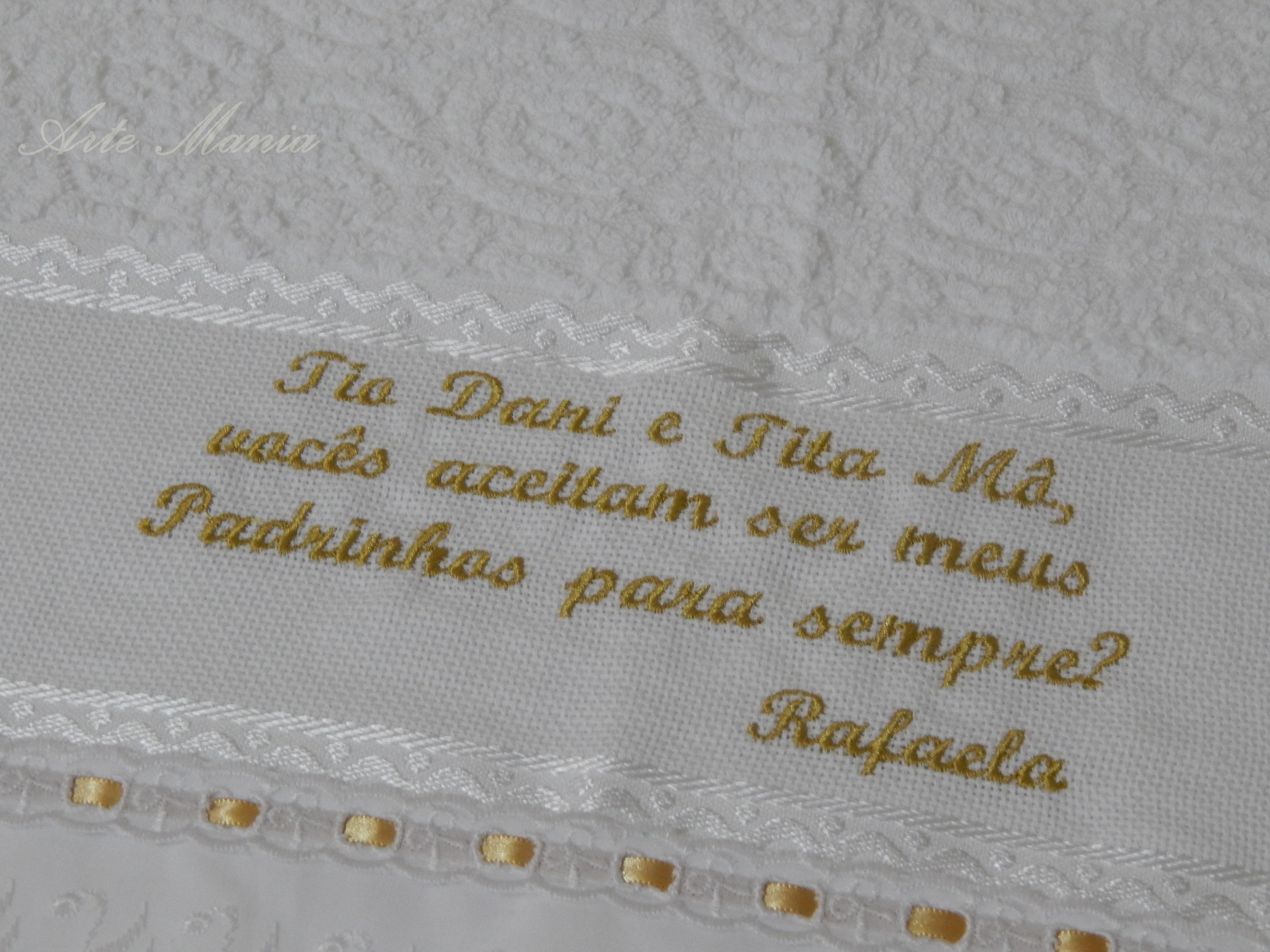 Toalha Convite Padrinhos De Batismo No Elo7 Arte Mania 568a3d