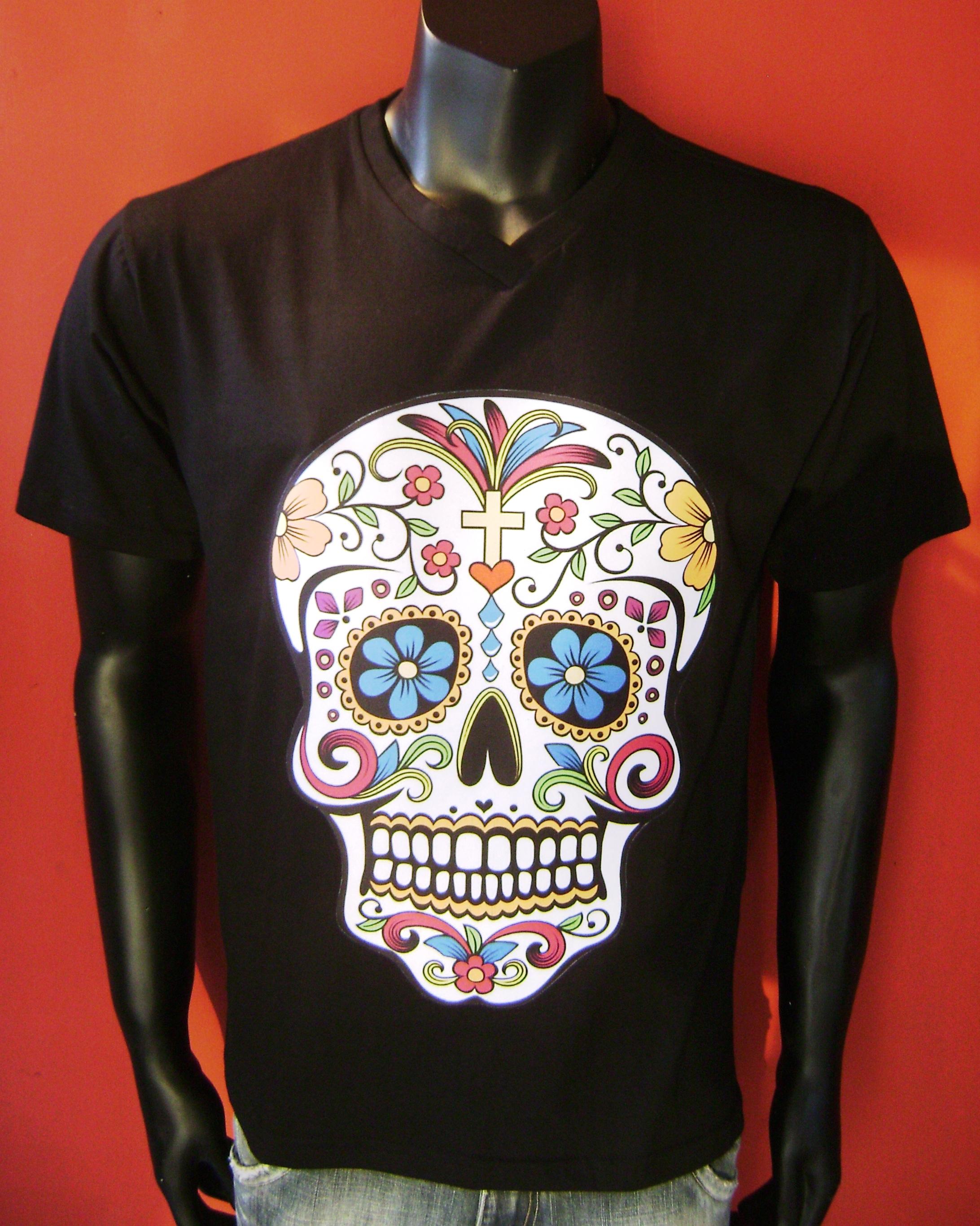 2ff3632feed60 Camiseta Coqueiros e Caveira Skull