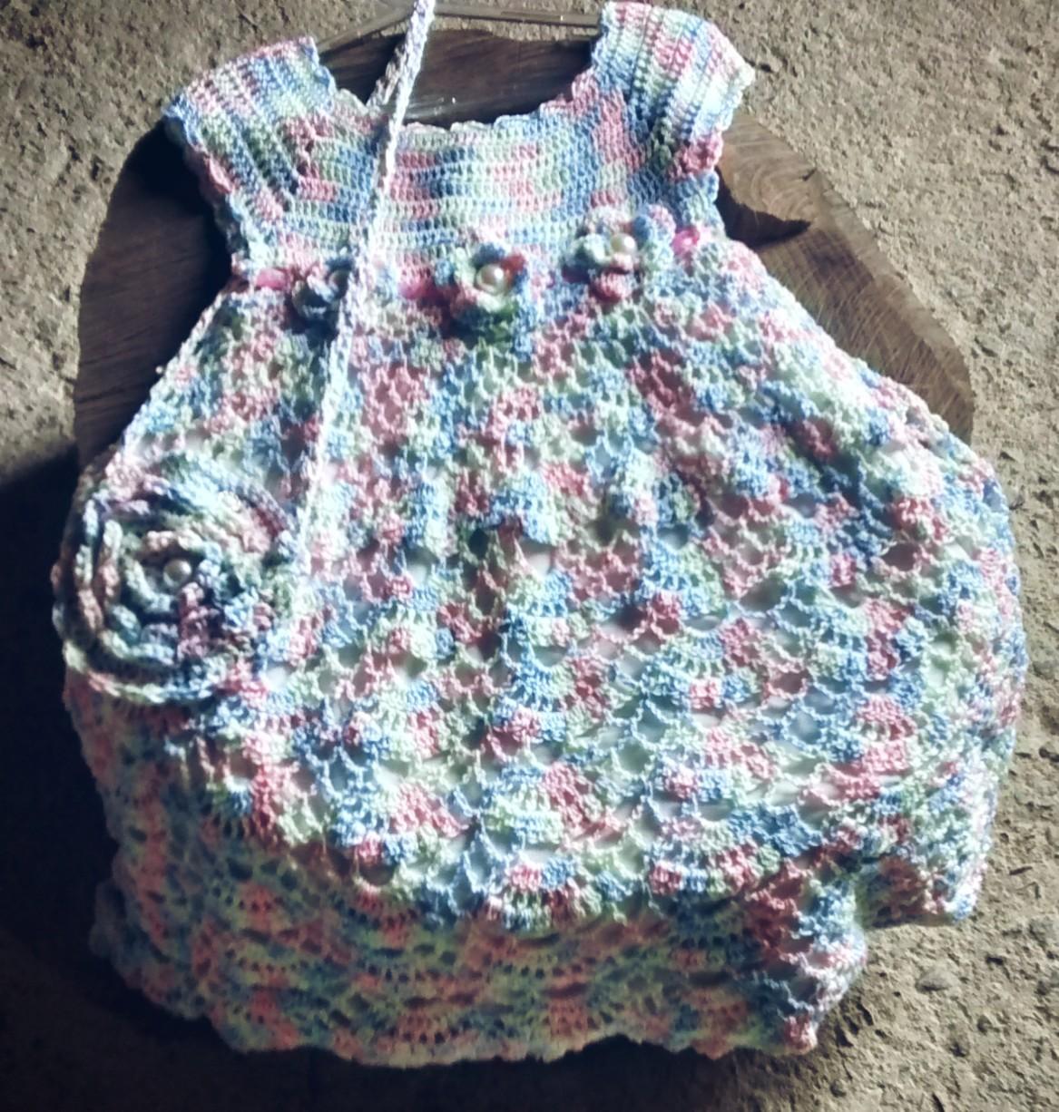 Vestido Em Croche 2 Anos Elo7