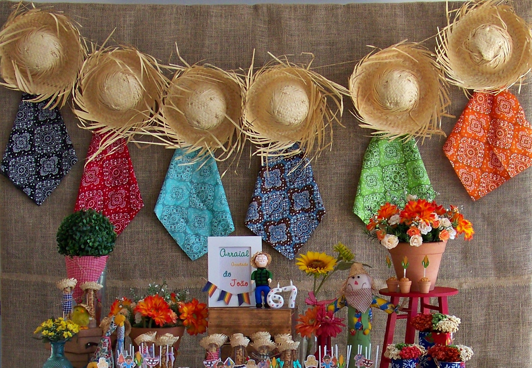 Decoração de festa junina chapéu