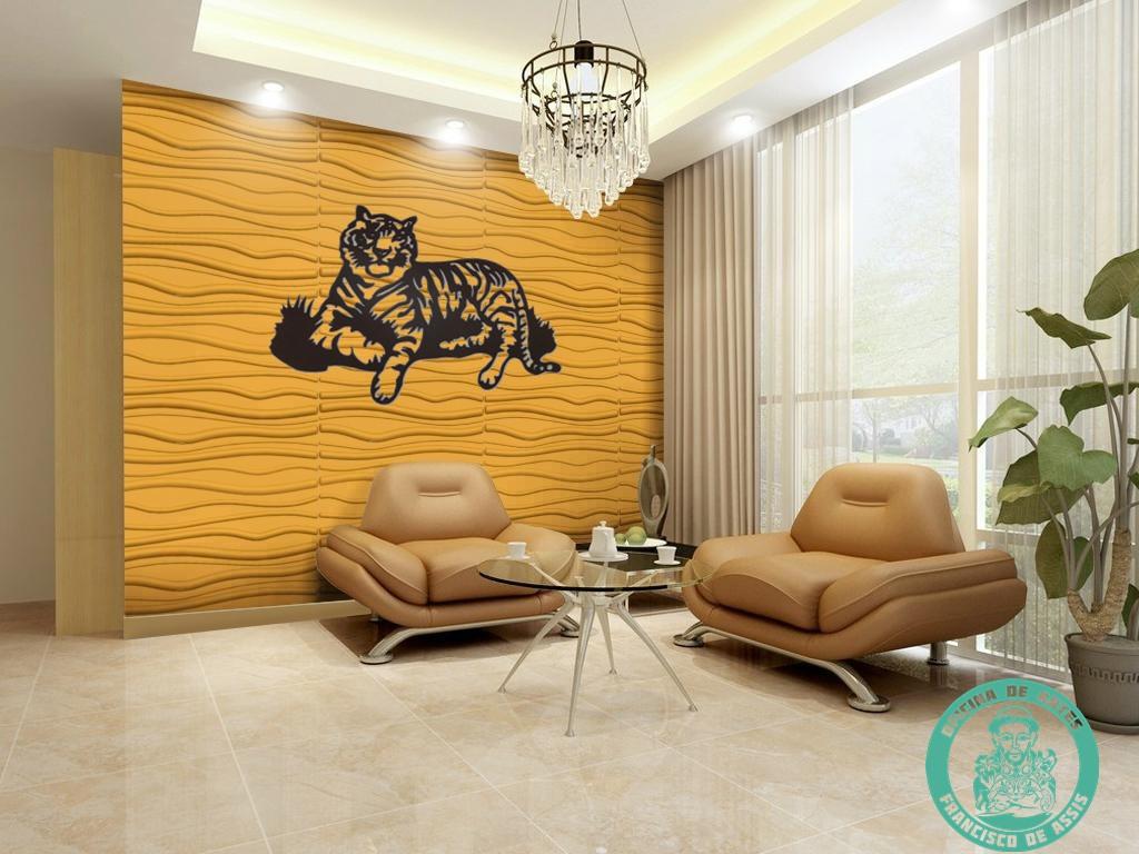 Tigre Enfeite De Parede Em Mdf No Elo7 Oficina De Artes Francisco  -> Arte Parede Sala
