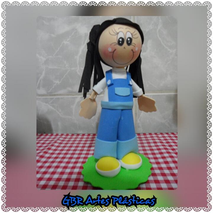 Fofucha Boneca em Eva Galinha Pintadinha  35cd1313a47ed