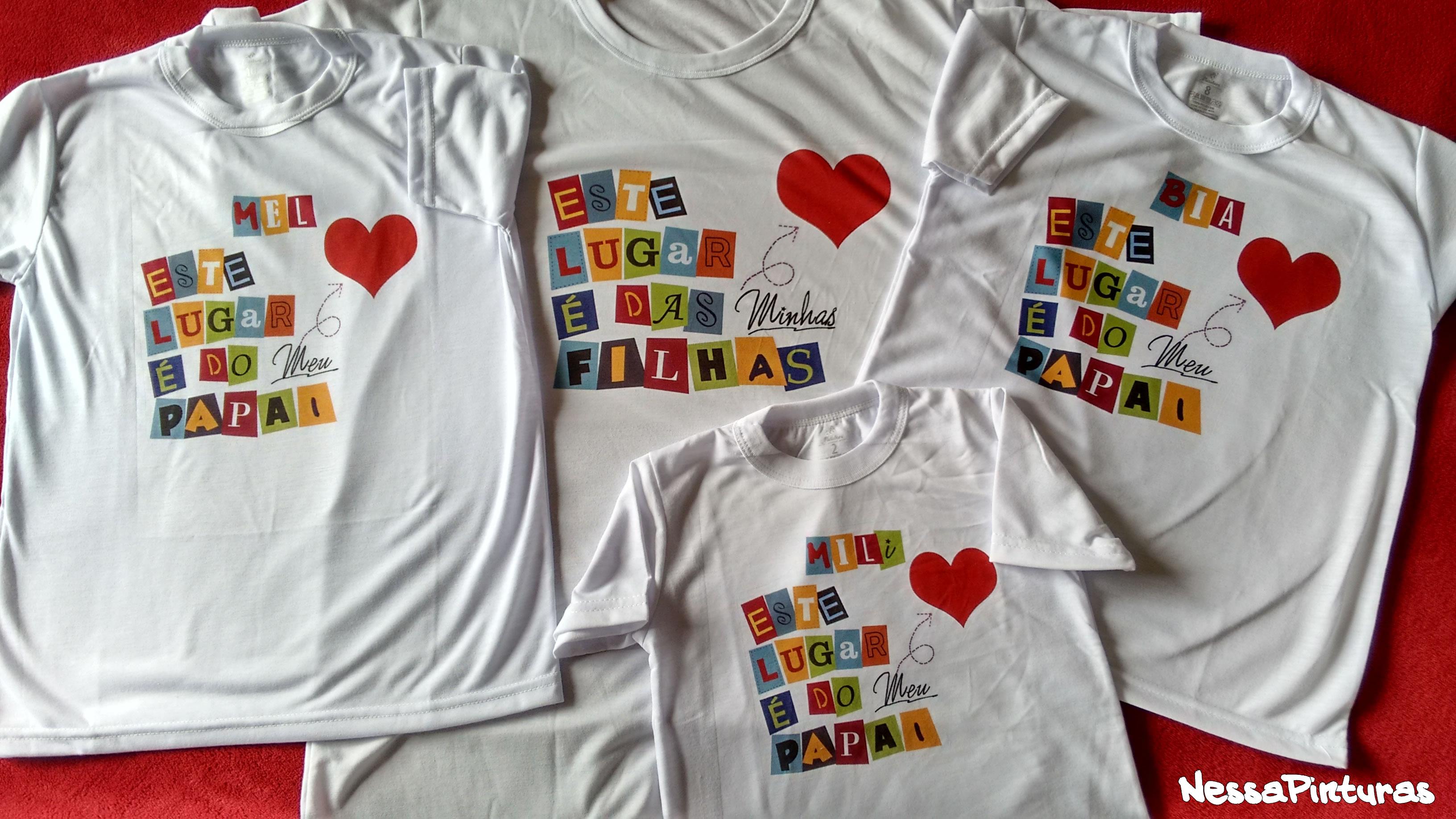 Camiseta Amor Pai E Filhao No Elo7 Nessa Pinturas 574a75