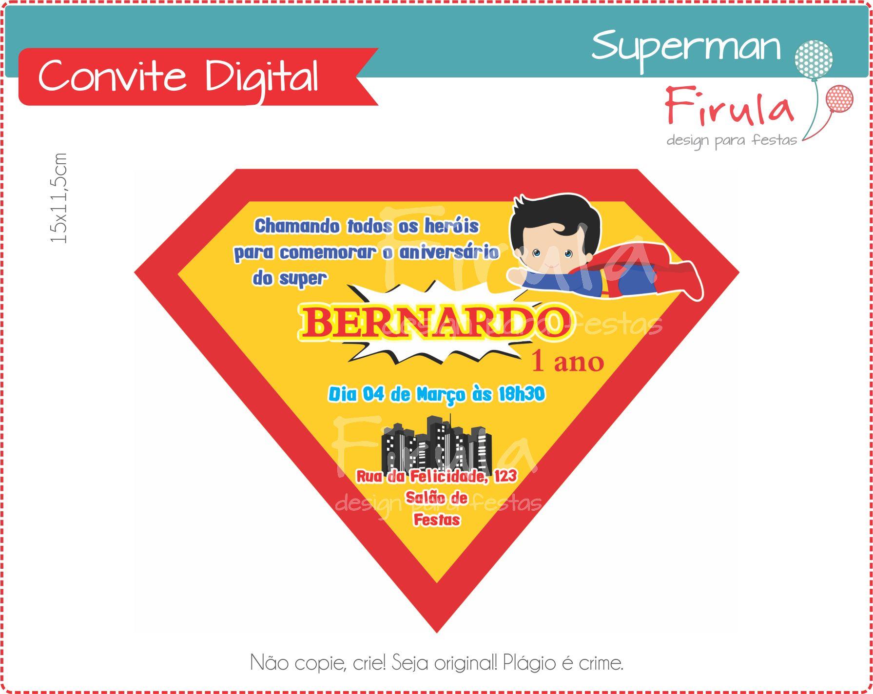 Convite Animado Super Homem Elo7