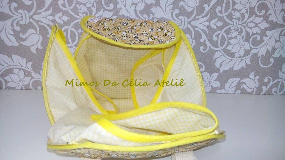 Bolsa Lancheira De Tecido : Bolsa porta lancheira de tecido mimos da c?lia ateli? elo
