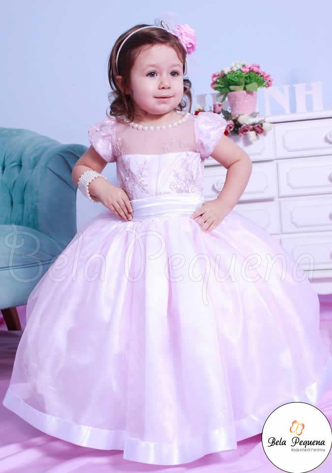 89e0de1b5 Vestido Infantil de Daminha Rosa no Elo7   Bela Pequena (57C29C)