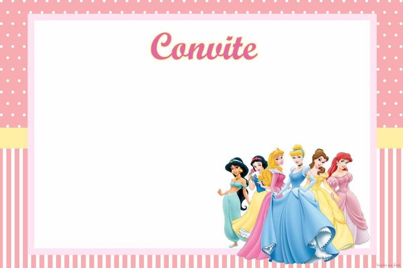 Convite De Aniversario Das Princesas Para Imprimir Imagui