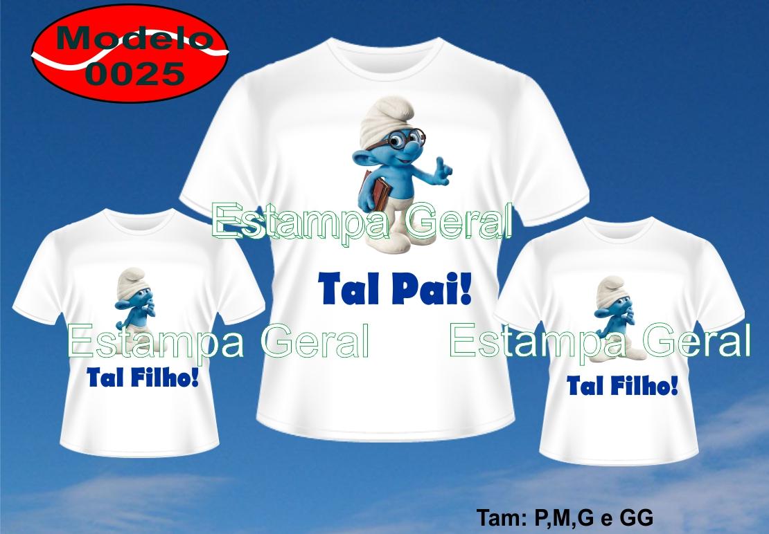 99b4373e84 Kit 3 Camisetas Personalizadas Tal Pai
