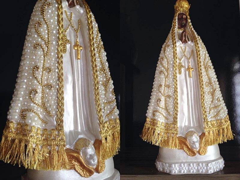 Favoritos Nossa Senhora Aparecida perolada 40cm no Elo7 | Mimos_Mila (57D1C0) JF29