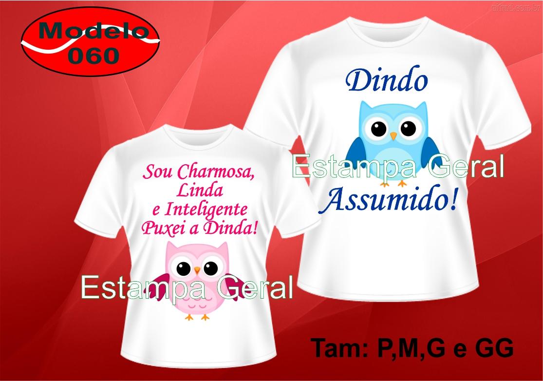 cf62b51e10 Camiseta Dinda e Dindo de Aniversario Minions