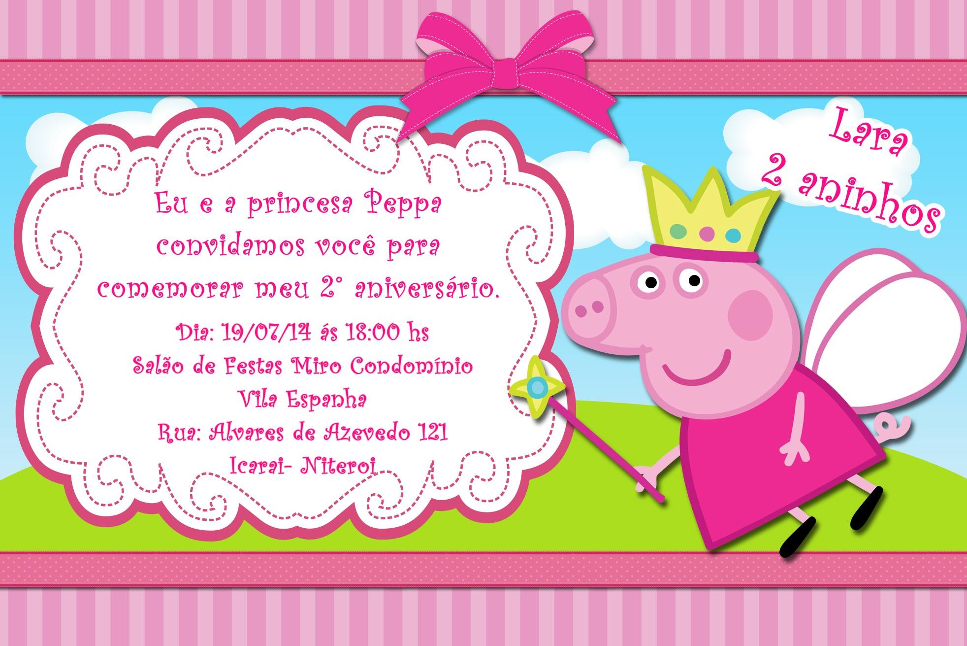 Convite Mundo da Peppa Pig