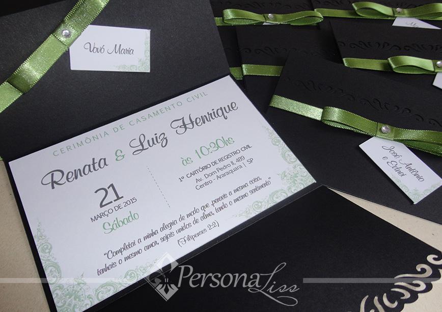 Convite Casamento Civil Elo7