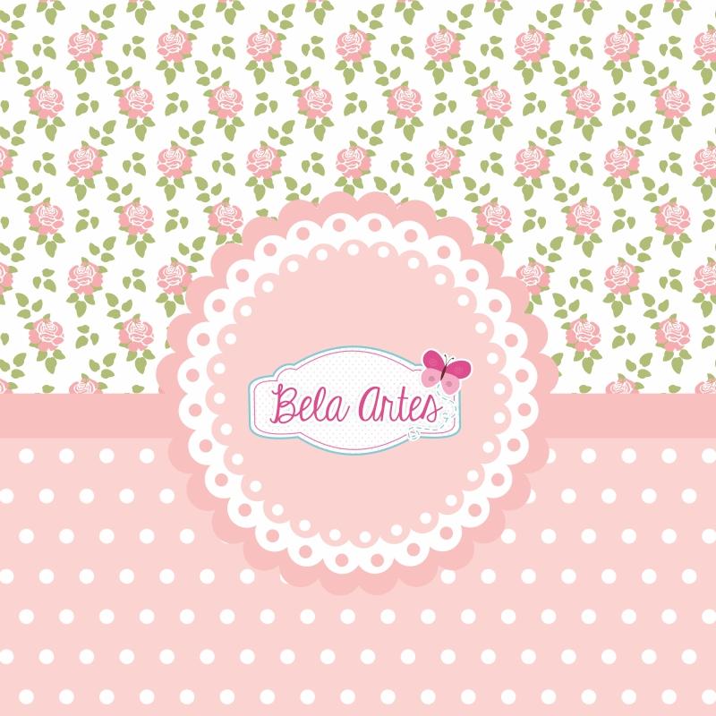 Papel Digital Floral Rosas Elo7