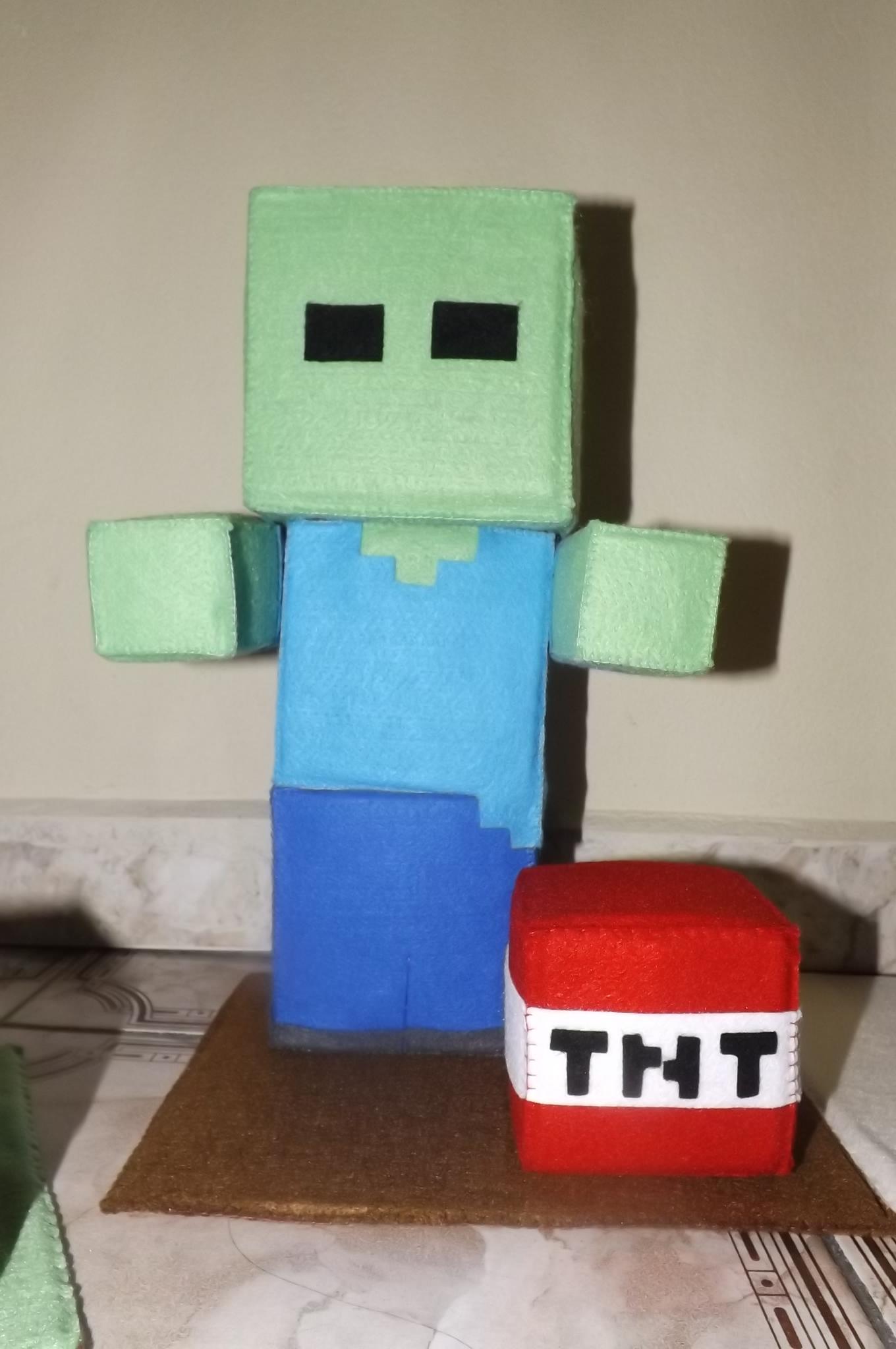 zumbi minecraft no elo7 ateliê art afetto artesanato e