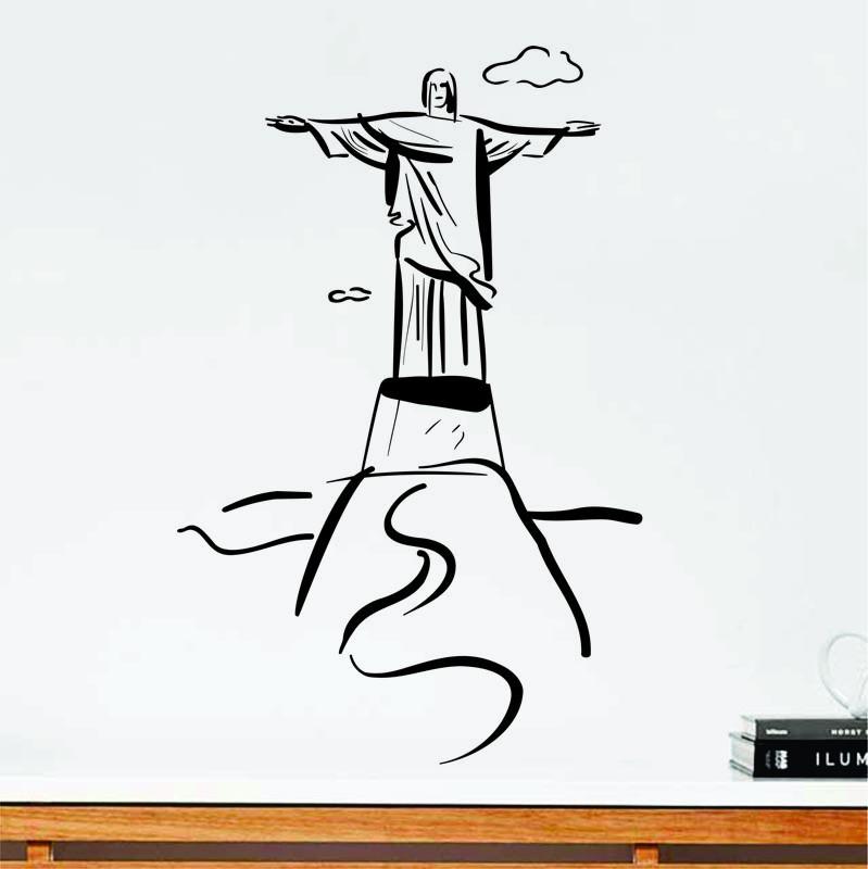 Conhecido Adesivo Para Parede Cristo Redentor no Elo7 | Adesivos Dicolar  CQ17