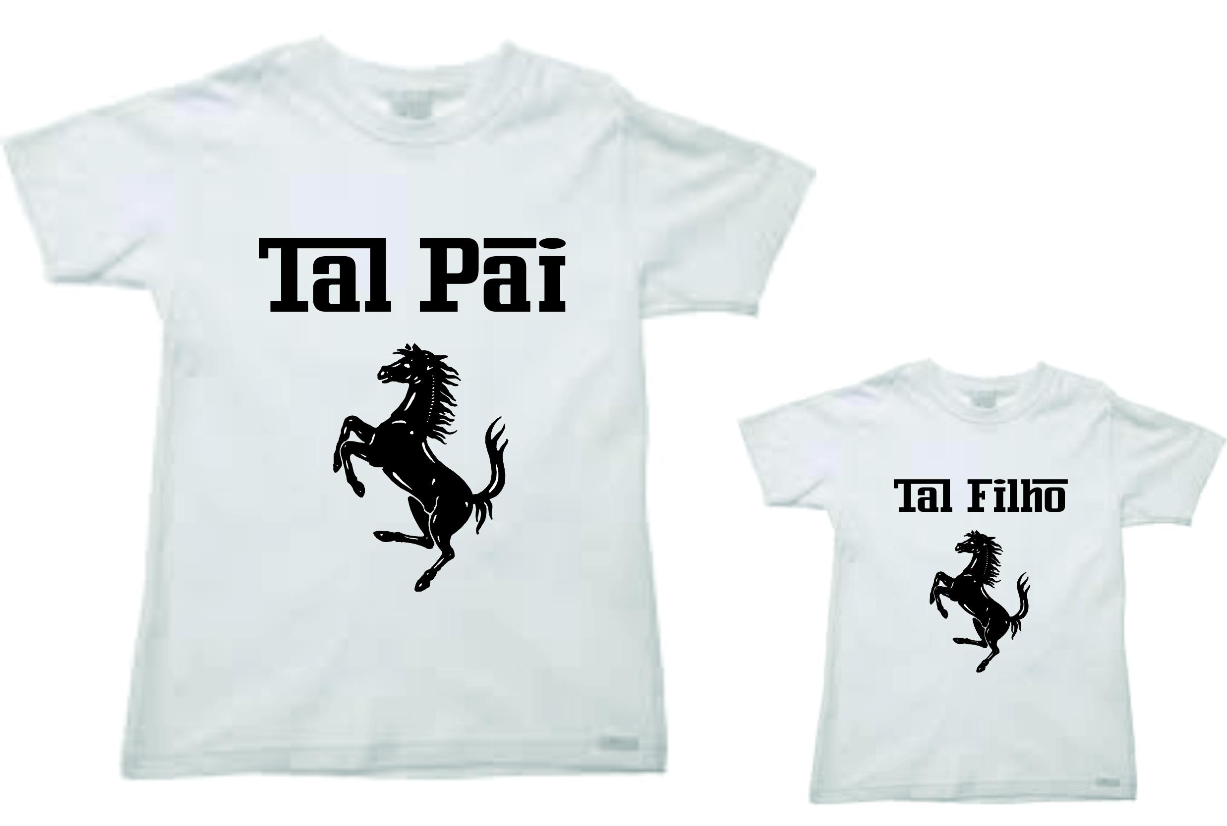 Camiseta Personalizada Pai e Filho  ba5d1a425d096