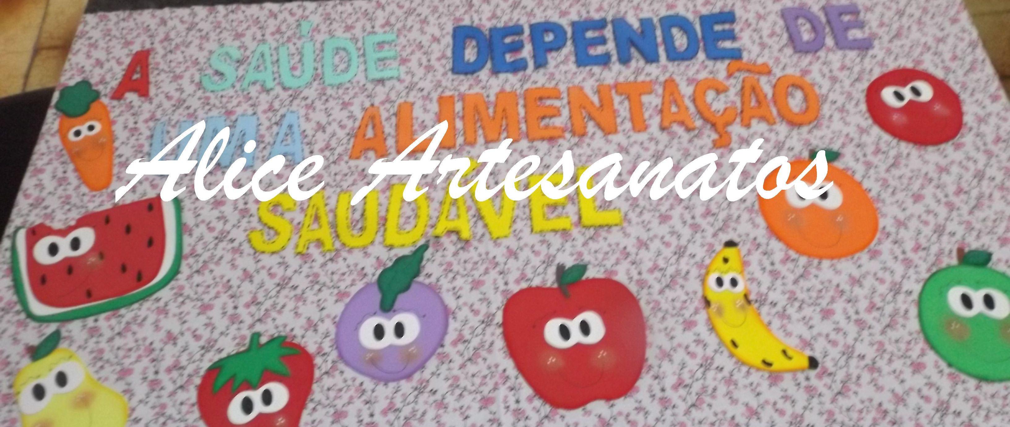 Painel Alimentação Saudável No Elo7 Alice Artesanatos 58ed66