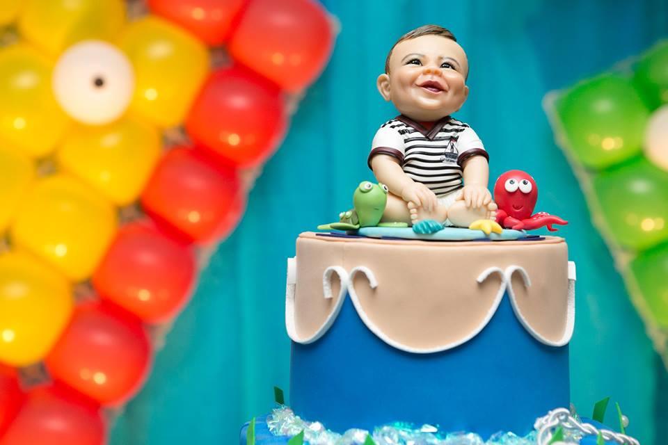 Topo de bolo beb 1 ano loren rtes elo7 for Jardineira bebe 1 ano