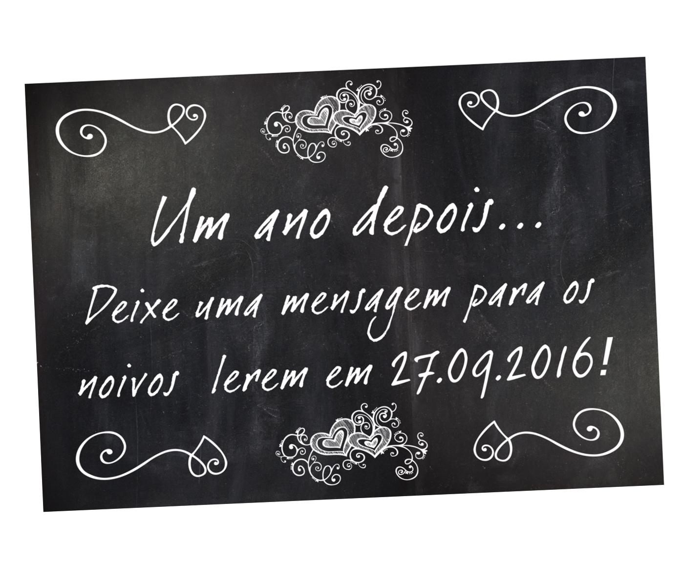 Top Placa Um ano depois(Livro mensagem) no Elo7 | Le Mime (593EBB) UY04