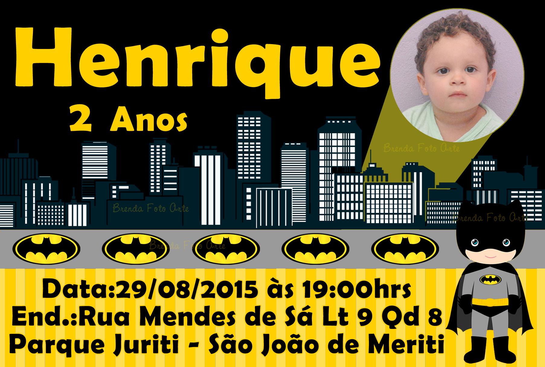 Convite Batman Elo7