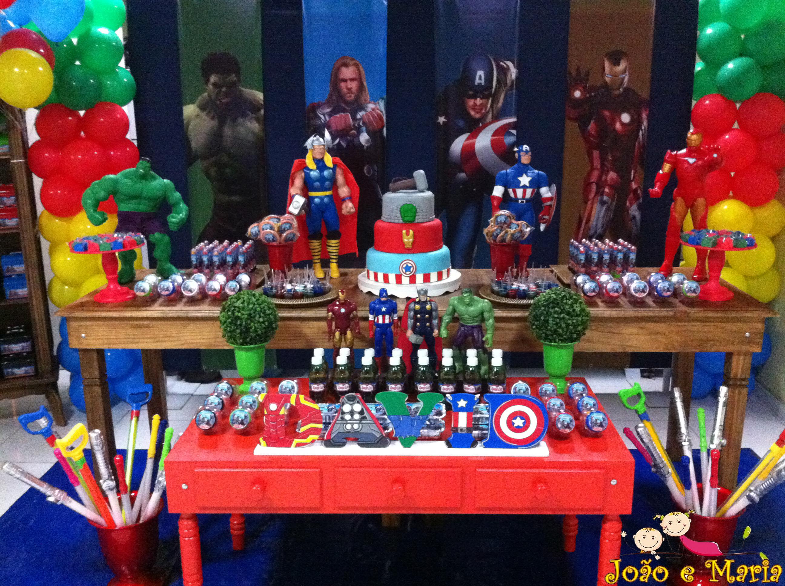 Decoraç u00e3o Provençal Vingadores Fazendo Artes Festas Elo7 -> Decoração De Festa Os Vingadores