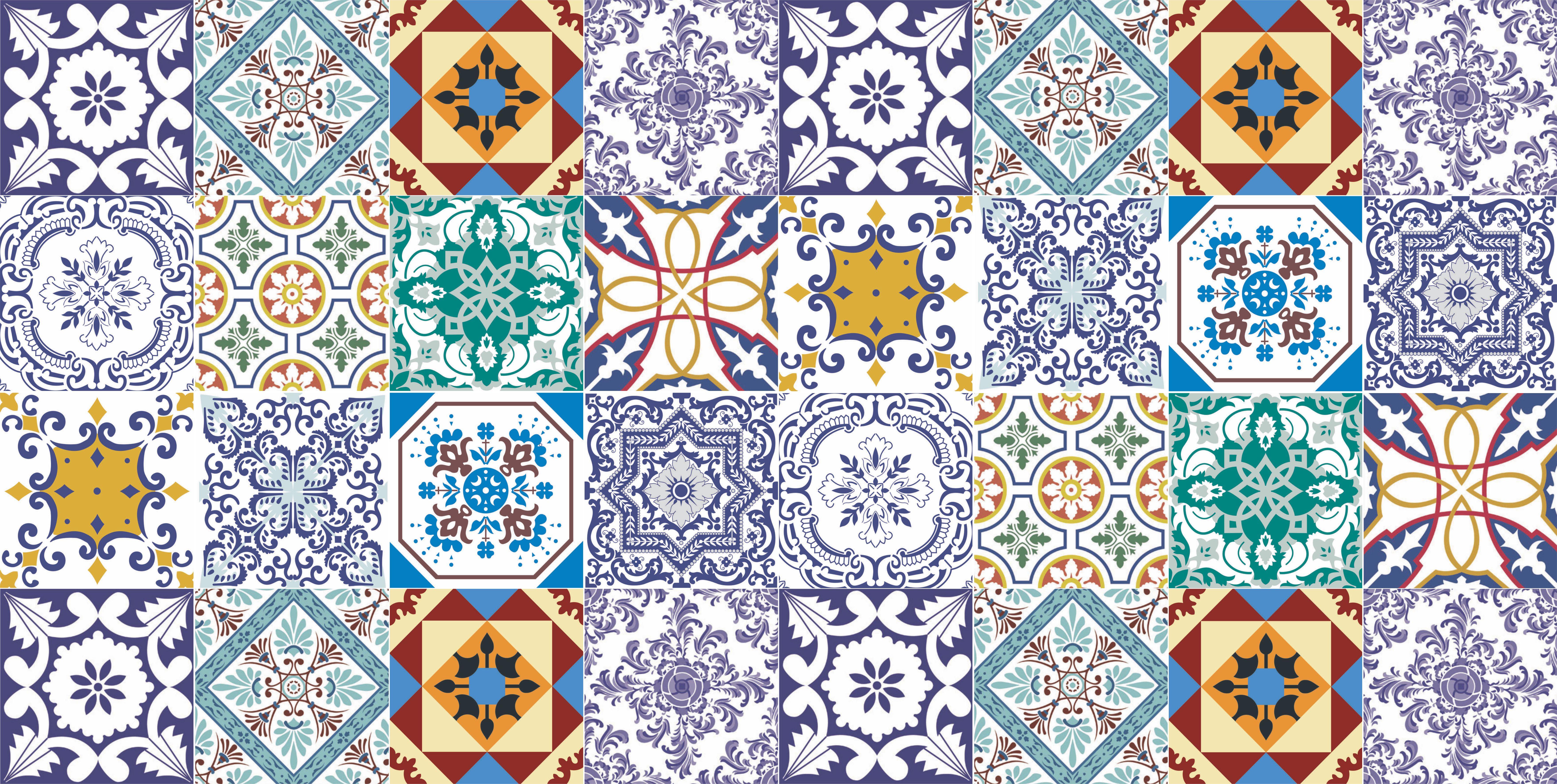 adesivo de parede azulejos 15 papel de parede #2671A5 7034x3544 Banheiro Com Azulejo E Papel De Parede