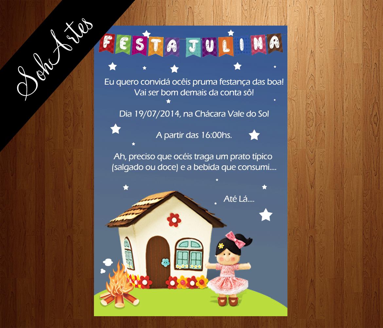 Convite Festa Junina No Elo7 Soh Artes 41694f