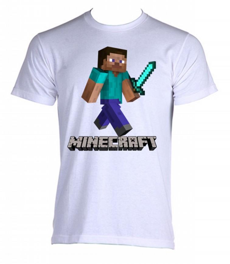Camisa Camiseta Minecraft 03  0986f5288d52d