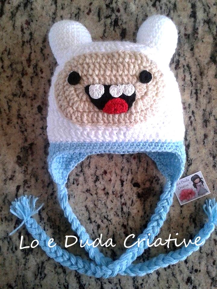 Hora da Aventura Jake Touca em Crochet  7a22620d99b