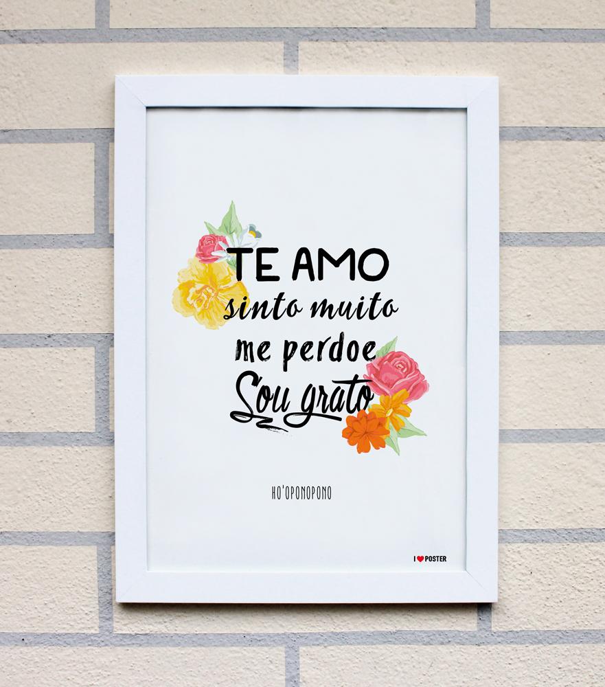 Ho 39 oponopono a4 i love poster elo7 for Www home