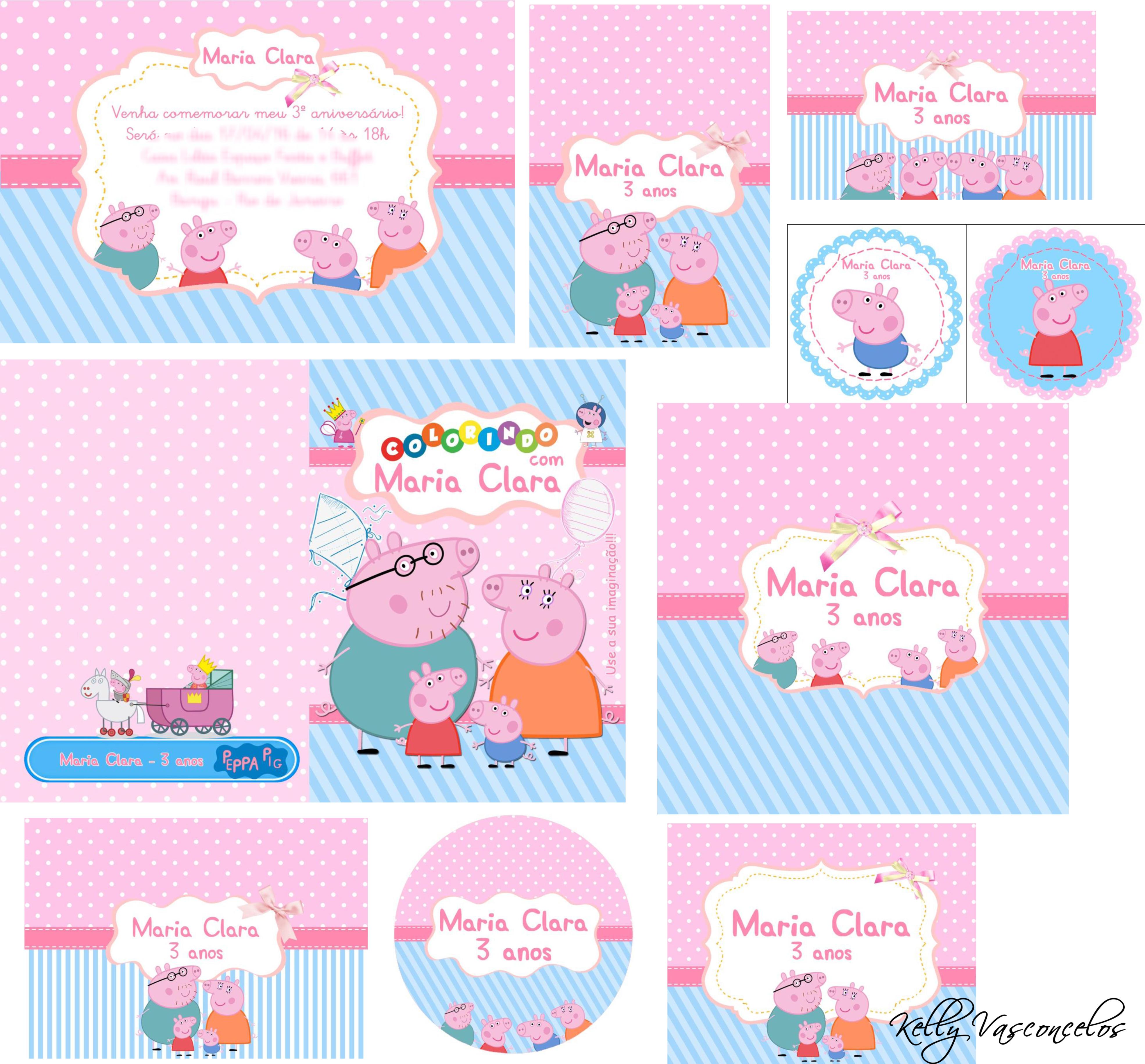 Kit Digital Peppa Pig No Elo7 Kelly Vasconcelos 5aa523