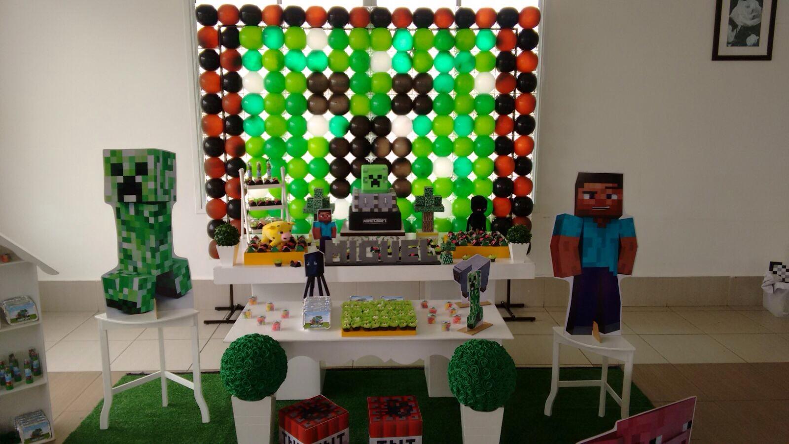 Decoração Minecraft aluguel  Mimos de Aninha  Elo7 -> Decoracao De Banheiro No Minecraft