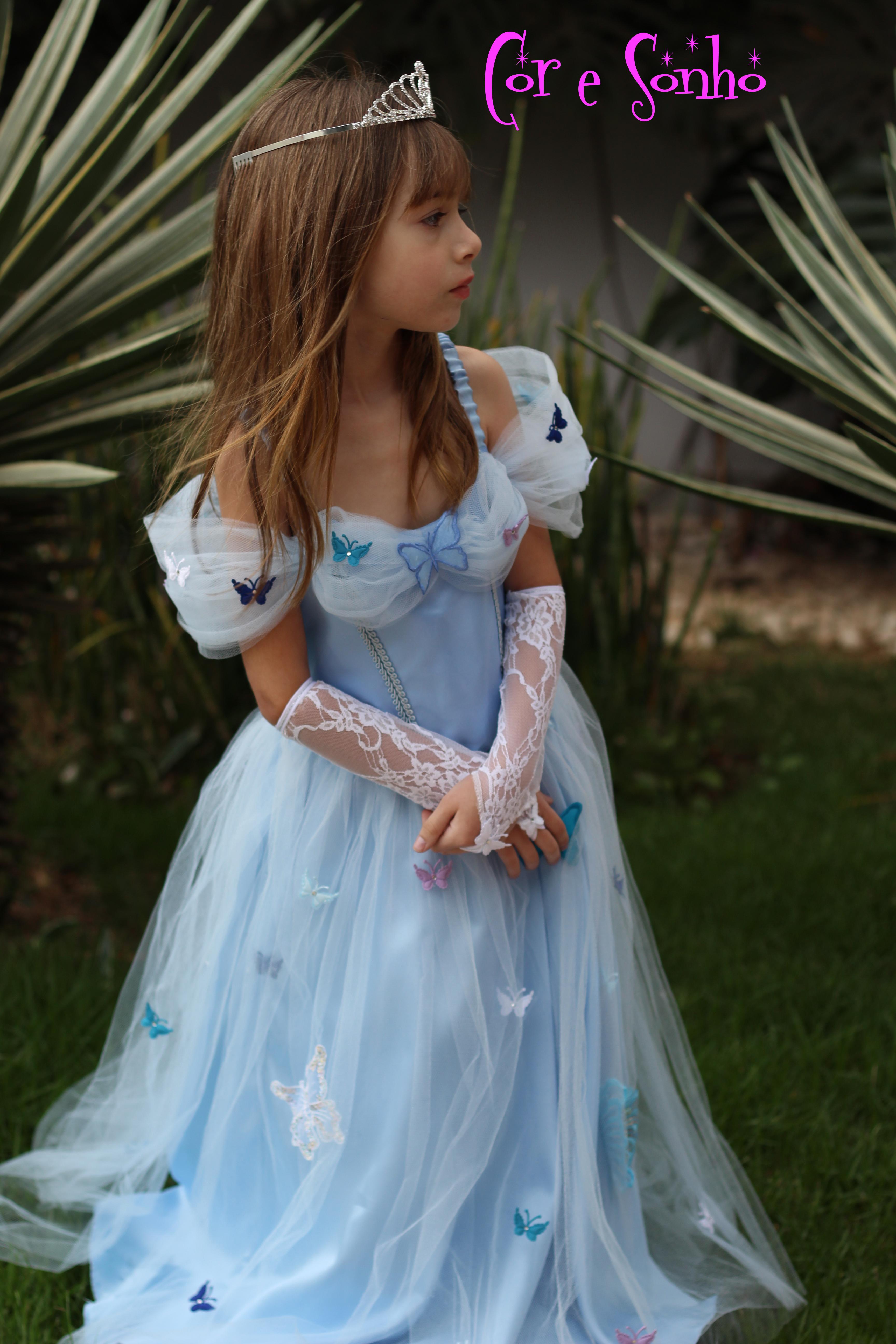 vestido princesa cinderela elo7