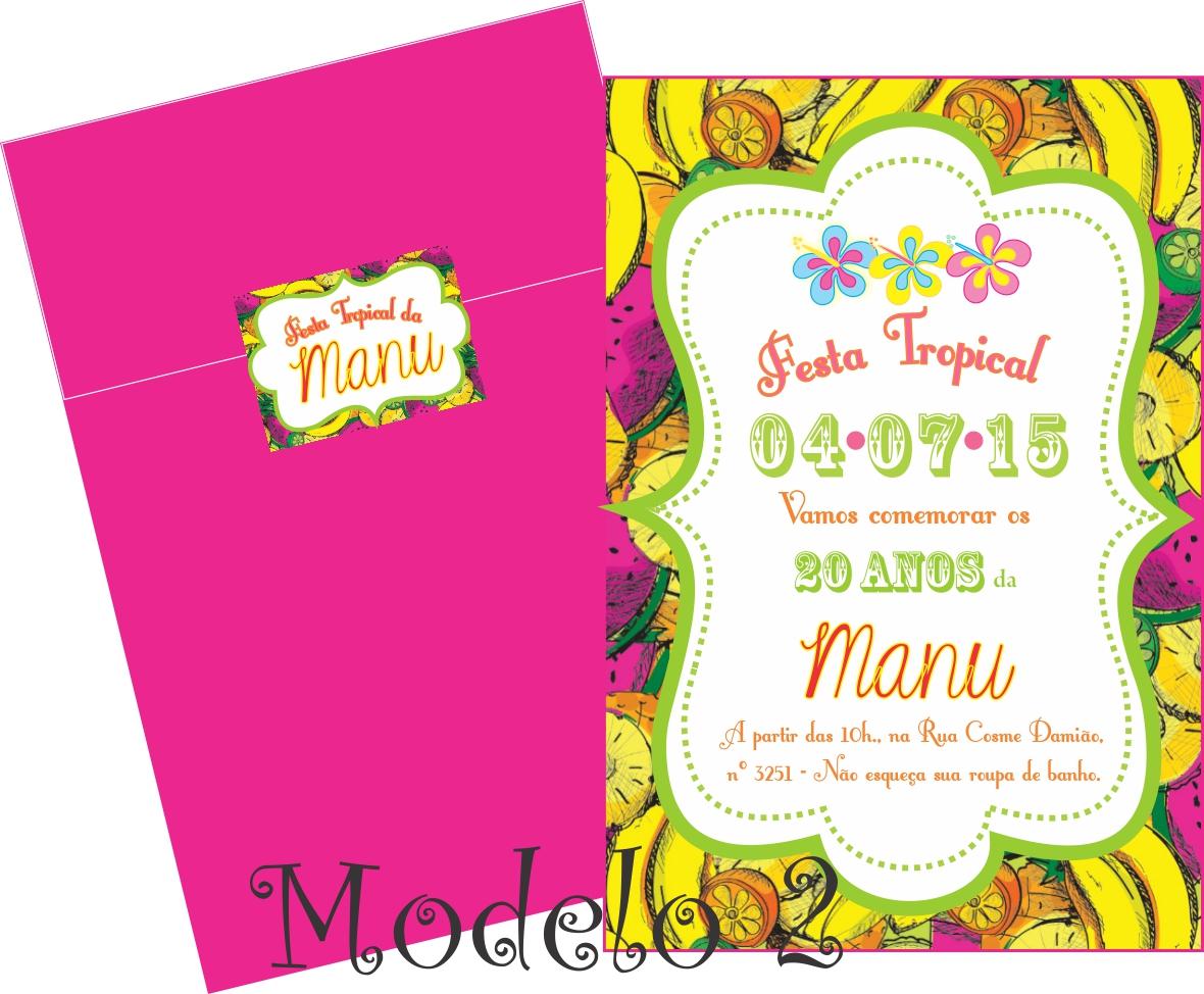Convite Festa Tropical Elo7